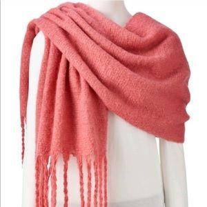 LC Lauren Conrad Pink Fuzzy Winter Scarf for Women